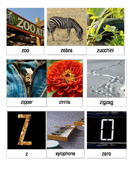Articulation 3 Part Cards Z-Initial Words