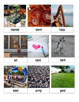 Articulation 3 Part Cards Vocalic ar Words