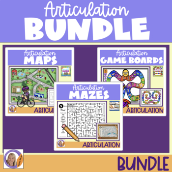 Articulation 3 in 1 No Prep, Just Print Bundle!! for speech and language therapy