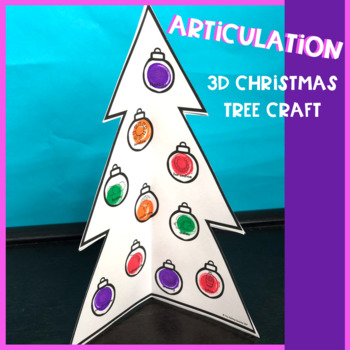 Articulation 3D Christmas Tree Craft