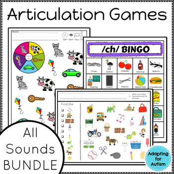 Articulation Acitivites and Games for Speech Therapy BUNDLE