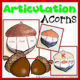 Articulation Acorns: Acorn Craft for Articulation