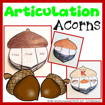 Articulation Acorns: Acorn Craft for Articulation