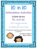 Articulation Activities:BL blend words for speech therapy,