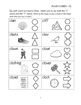 Articulation Activities:CL blend words for speech therapy,phonics,sound practice