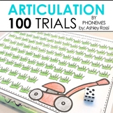 100 Trials Articulation & Apraxia - By Phonemic Sound