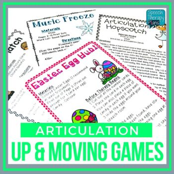 Articulation Activities - Get Active With Artic!