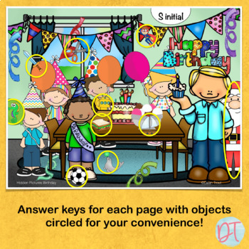 Articulation Activities For Speech Therapy Hidden Pictures
