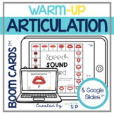 Articulation Activities Warm Up Visuals Quick Drill for Sp