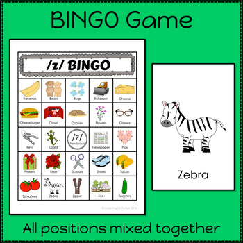 Articulation Activities and Games for Speech Therapy /z/