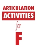 Articulation Activities for F