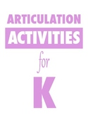 Articulation Activities for K
