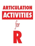 Articulation Activities for R
