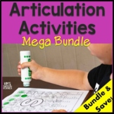 Articulation Activities/Worksheets for Speech Therapy - Mega Bundle - Print & Go