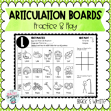 Articulation Activity Boards B&W: Combo 2: SH, CH, TH, L, S, Z, R, & blends!
