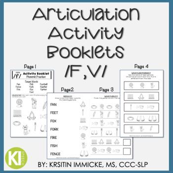 Articulation Activity Booklets /F,V/