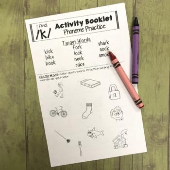 Articulation Activity Booklets - K,G