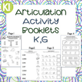 Articulation Activity Booklets - K,G