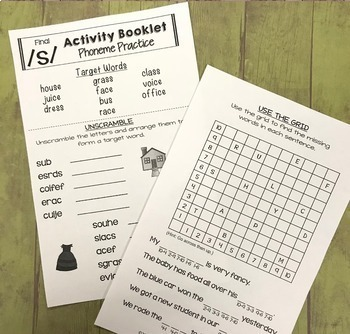 No Prep Articulation Activity Booklets - Later Sounds BUNDLE