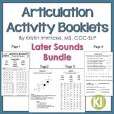 No Prep Articulation Activity Booklets - Later Sounds BUNDLE