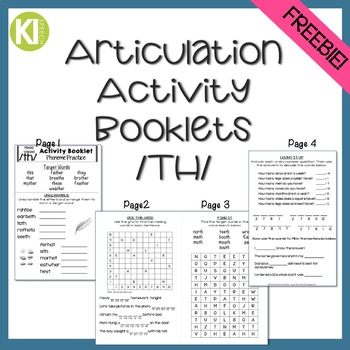 Articulation Activity Booklets /TH/