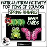 Articulation Boom Cards™  Many Sounds! Spring Animals - Distance Learning Speech