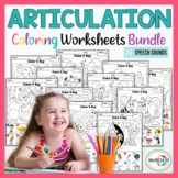 Articulation Activities : Articulation Coloring Worksheet for Speech Therapy.