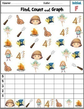 Articulation Activity; /F/ sound Worksheets Find, Count and Graph
