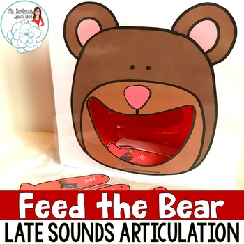 Articulation Activity Feed the Bear: Late Sounds