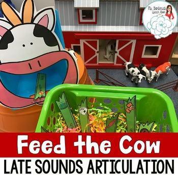 Articulation Activity Feed the Cow: Late Sounds