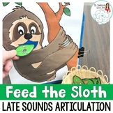 Articulation Activity Feed the Sloth: Late Sounds