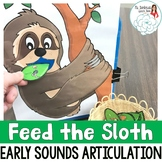 Articulation Activity Feed the Sloth: Early Sounds