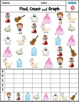 Articulation Activity; /G/ sound Find, Count and Graph