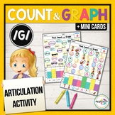 G Articulation Activity: G sound Count & Graph No-Prep Worksheets