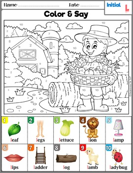 Articulation Activity: L and L-blends Coloring Sheets