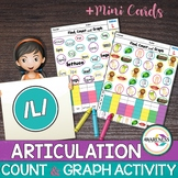 Articulation Activity; [ L and L blends] Worksheets Find, Count and Graph