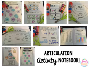 Articulation Activity Notebook: F