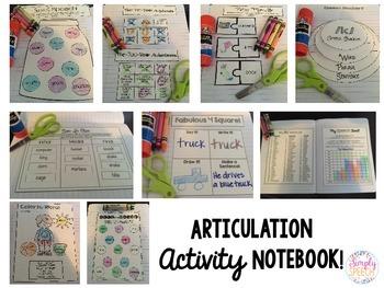 Articulation Activity Notebook: R