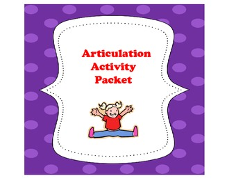 Articulation Activity Packet