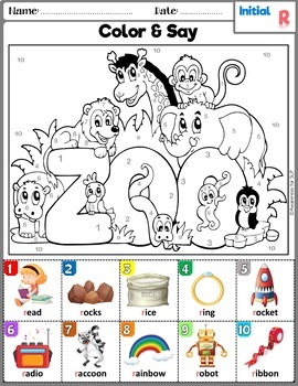 Articulation Activity: R and R-blends Coloring Book