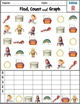 Articulation Activity; [R and R blends] Worksheets Count and Graph
