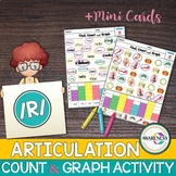 R Articulation Activity: R & R blends Count & Graph No-Prep Worksheets
