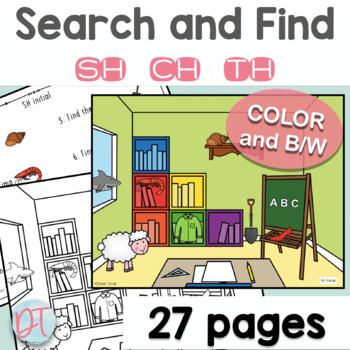 Articulation Activities: Search and Find CH, SH, and TH