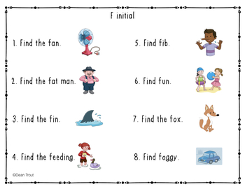 Articulation Activity: Search and Find FREEBIE for F sound