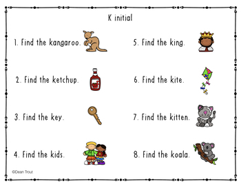 Articulation Activities Search and Find Later Developing Sounds