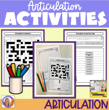 Articulation Activity Sheets