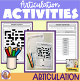 Articulation Activity/Homework Sheets for speech and langu