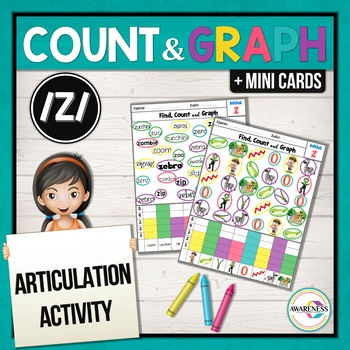 Articulation Activity; /Z/ sound Find, Count and Graph