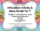 Articulation Activity and Game Bundle for F