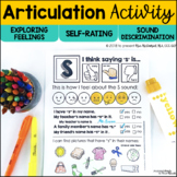 DISTANCE LEARNING Articulation Activity | Self-Rating, Fee
